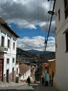 The street where I live, Calle Cotopaxi