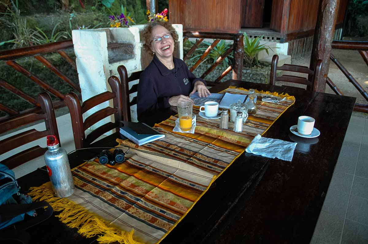 Ecuador Milpe mindo cloud forest al fresco breakfast