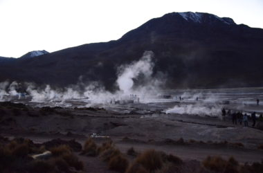 Steam at dawn in the Valle de Tatio.