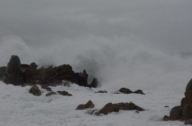 This is what the sea looked like near Valparaíso. The streets of the city weren't much better.