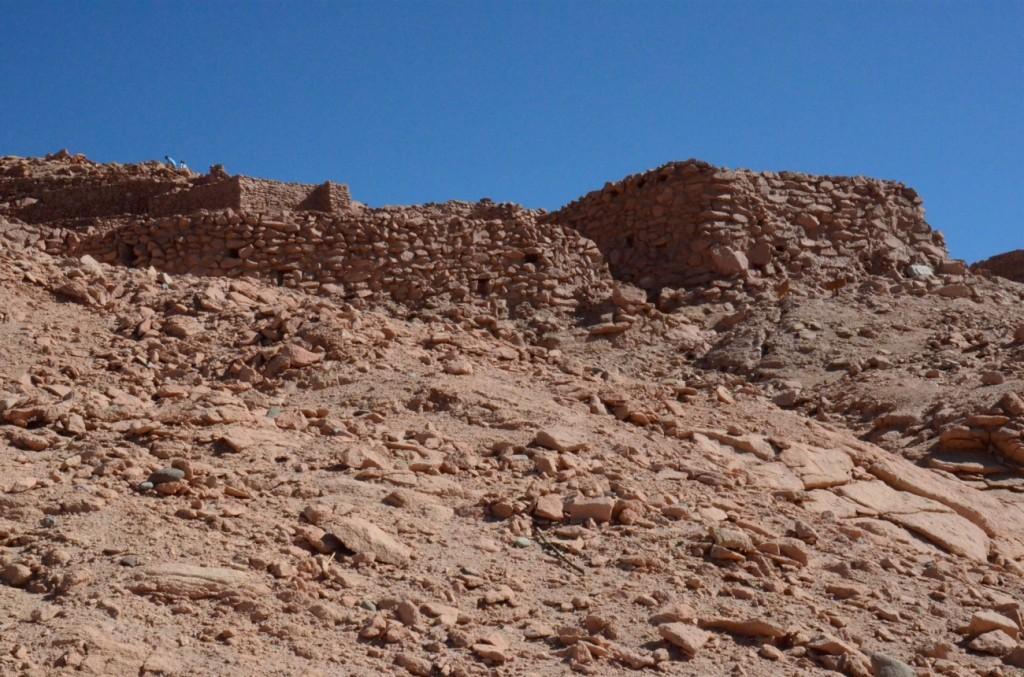 walls Quitor Atacama Desert