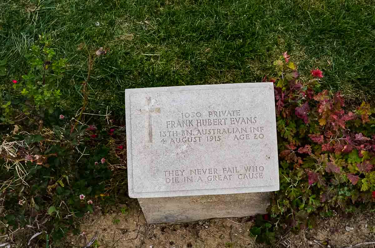 gallipoli battlefield gravestone