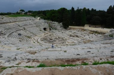 The words of Sophocles, Aeschylus, Euripides used to be spoken here. They still are in translation.
