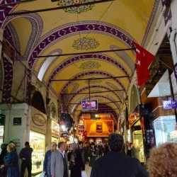 The Grand Bazaar in Istanbul. I liked the ceiling