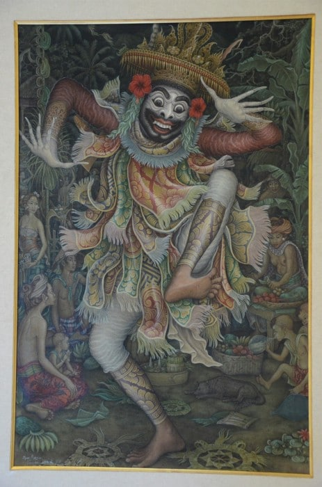 A Balinese dancer, by I Nyoman Meja, from the ARMA Museum.