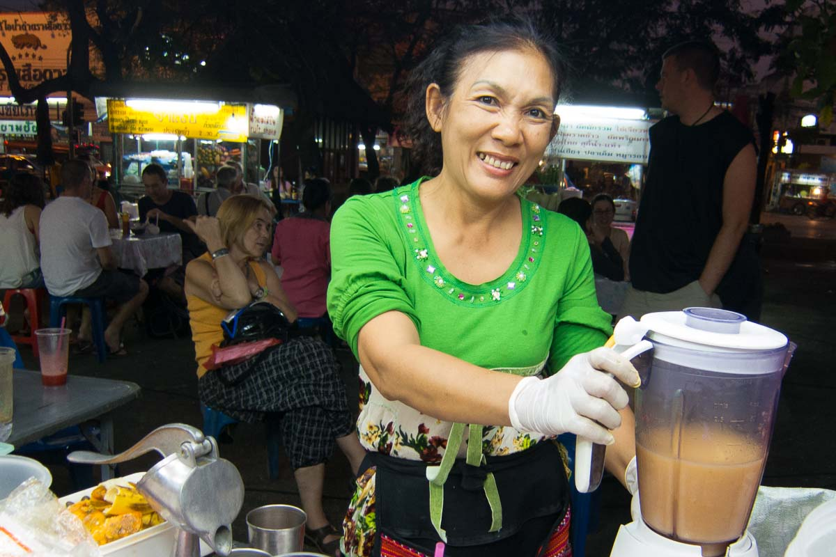 Thailand Chiang Mai Mrs Pa smoothie