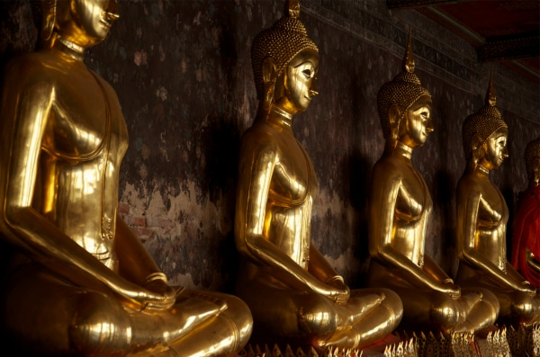 Buddhas at Wat Pho in Bangkok