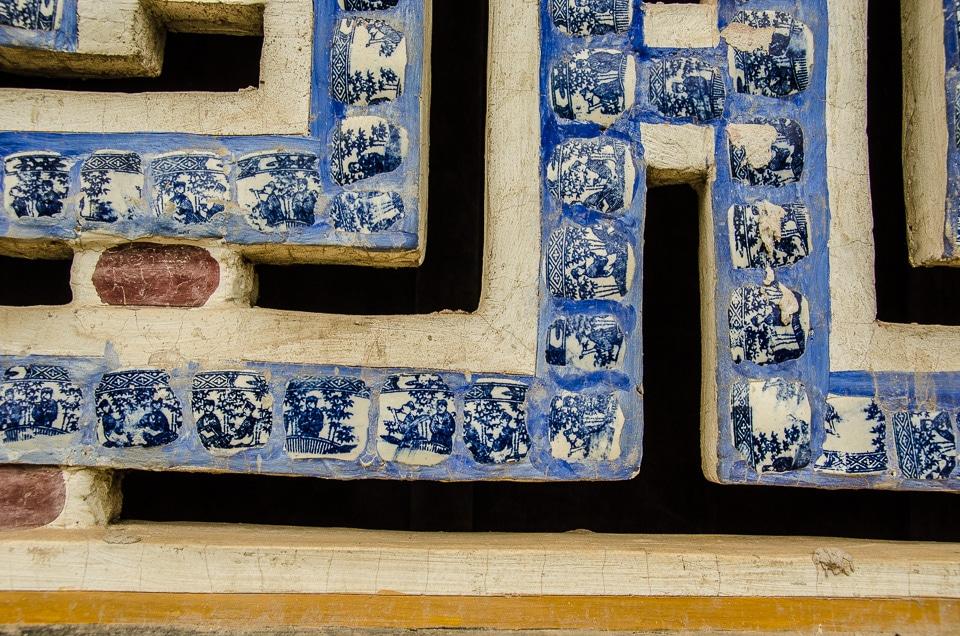 hue citadel ceramic window grill detail