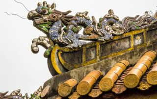 hue citadel dragon on roof