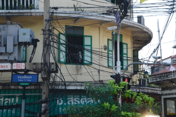 The wiring system in Bangkok