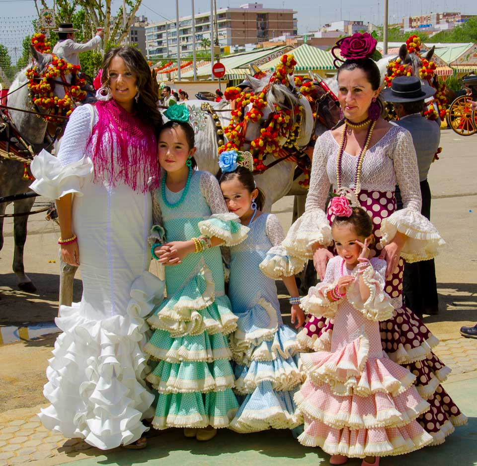 Family photo feria de abril seville spain