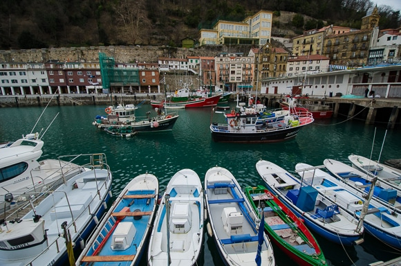 San Sebastian fishing boats