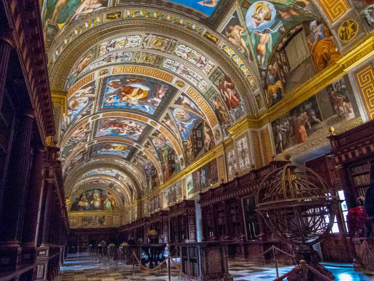 el escorial library spain unesco world heritage day trip from madrid