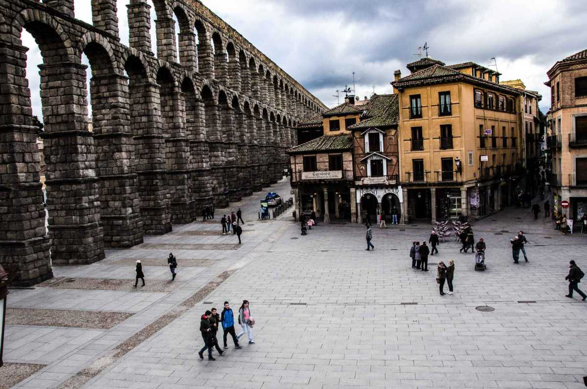 segovia aquaduct spain unesco world heritage day trip from madrid