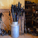 Camino de Santiago, Boots and Sticks at the Albergue