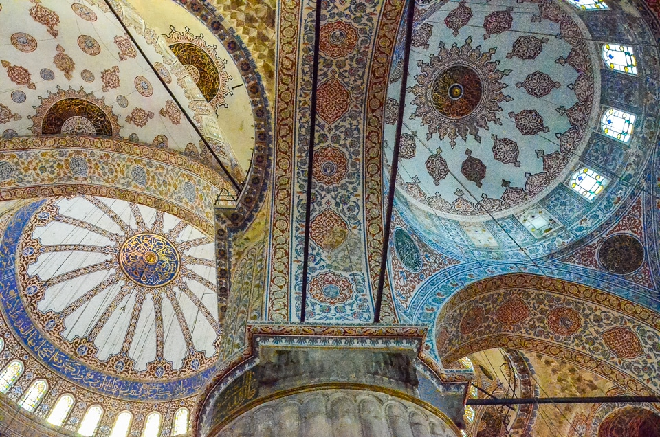 Ceiling Blue Mosque Istanbul