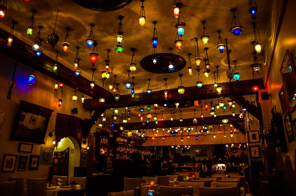 lamps Istanbul restaurant turkey