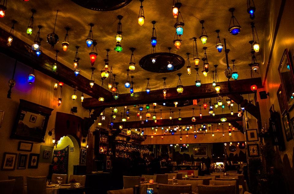 lamps Istanbul restaurant turkey