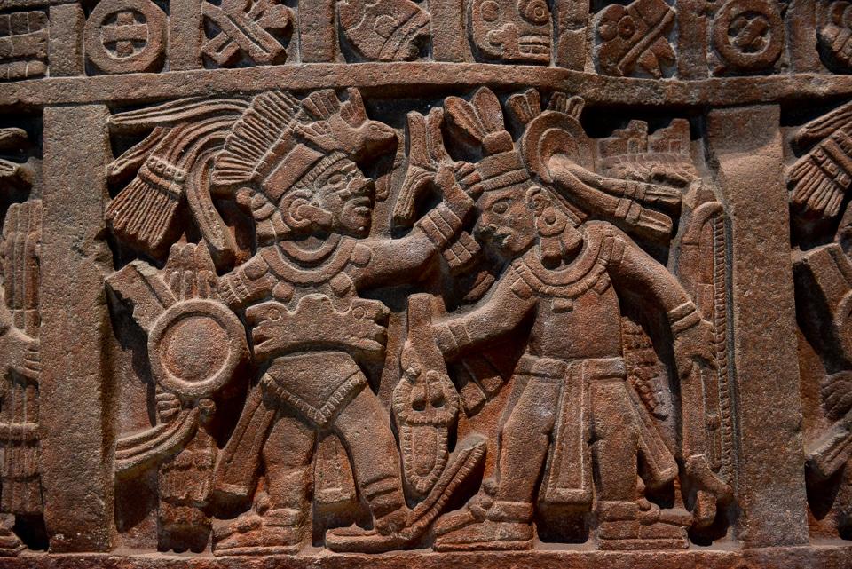 Aztec gladiators from the Museo de Archeología.