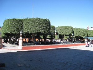 Central park in the World Heritage city San Miguel de Allende