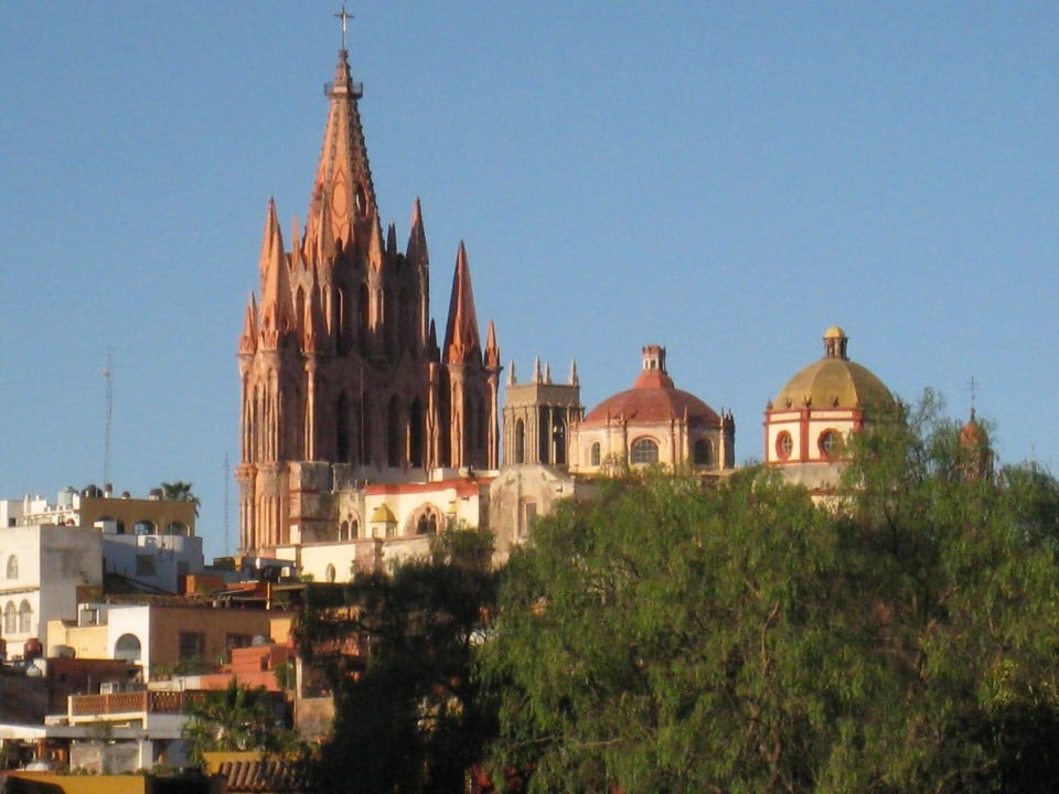 View of Parroquia from the patio of Instituto Allende