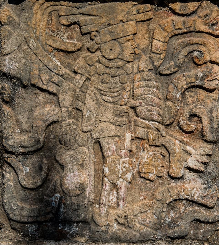 Mayan warrior with severed head Chichen Itza