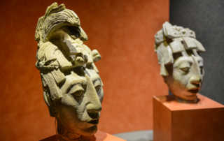 Toltec busts Archeology Museum Mexico City