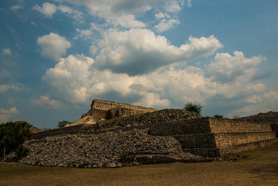mayan temple ruins Kabah Yucatan