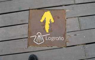 Camino de Santiago marker Logrono