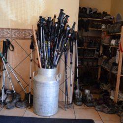 Camino de Santiago boots walking sticks