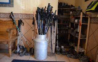 Camino de Santiago boots walking sticks
