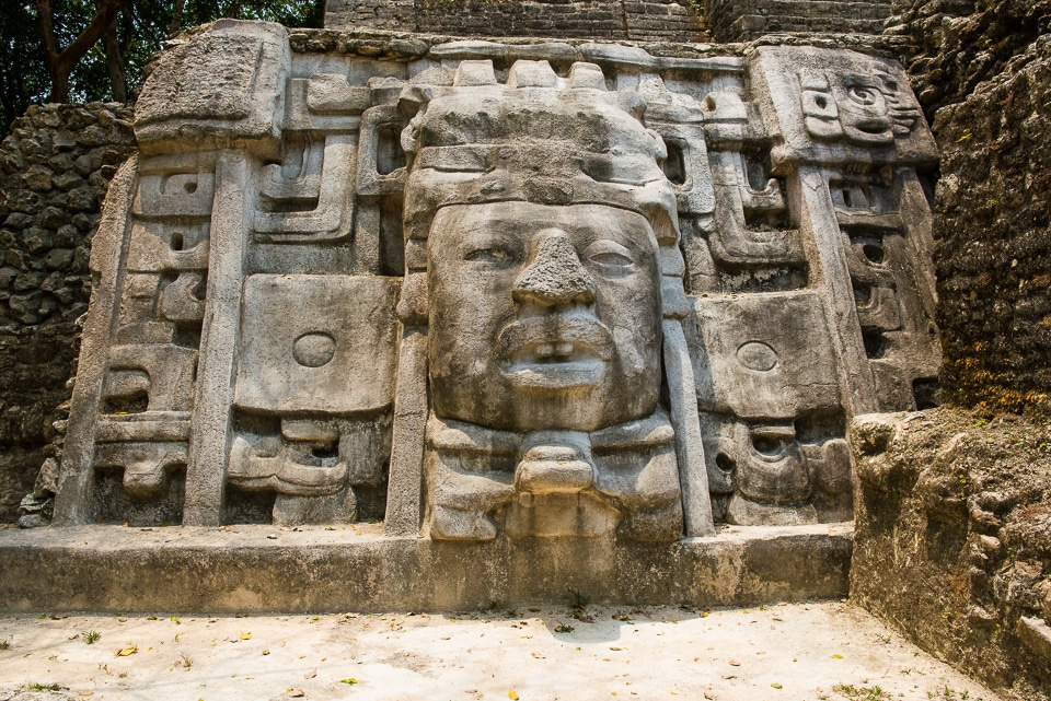 Temple of the Masks, Lamanai, Belize - Travel Past 50