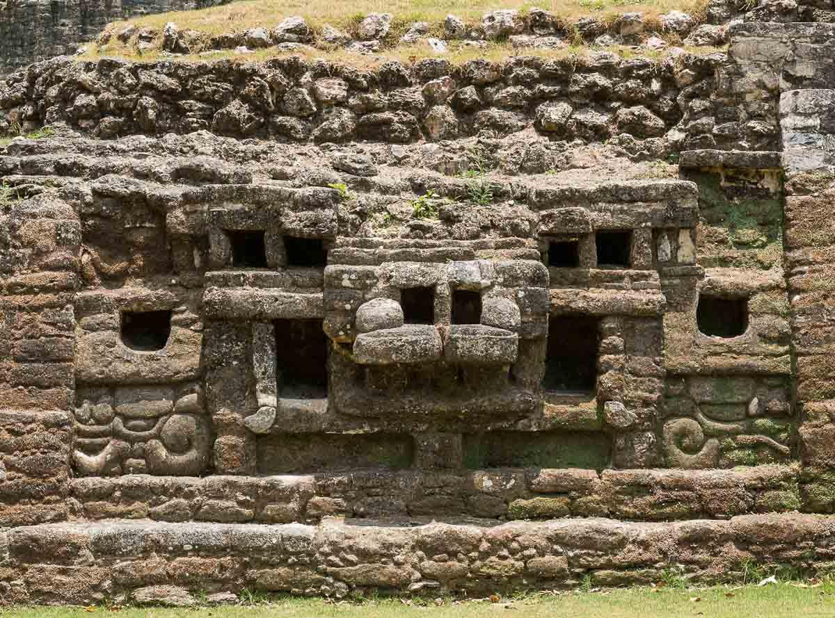 temple jaguar face belize