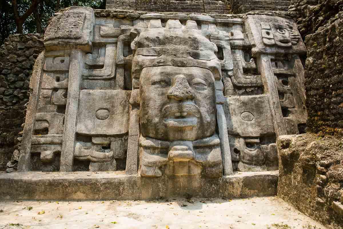 belize temple mask