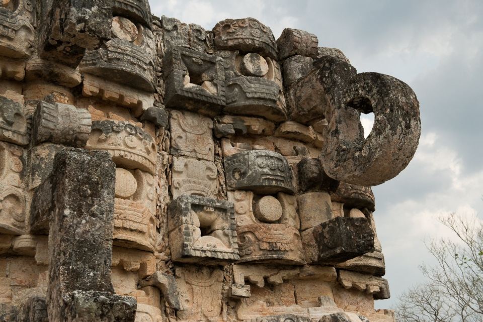 temple carvings kabah yucatan