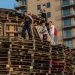 Building a Bonfire, Belfast, Northern Ireland