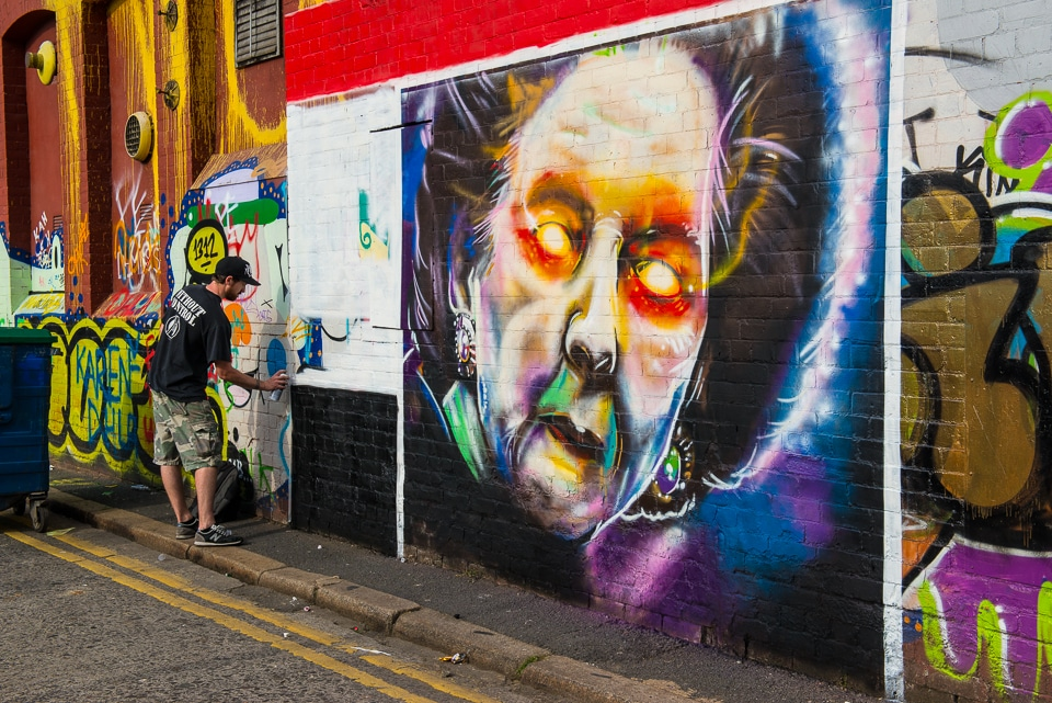 Graffiti Artist, Belfast, Northern Ireland - Travel Past 50