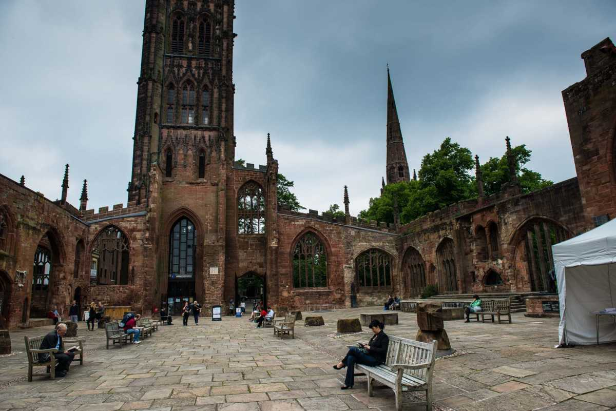 ruins of coventry cathedral england