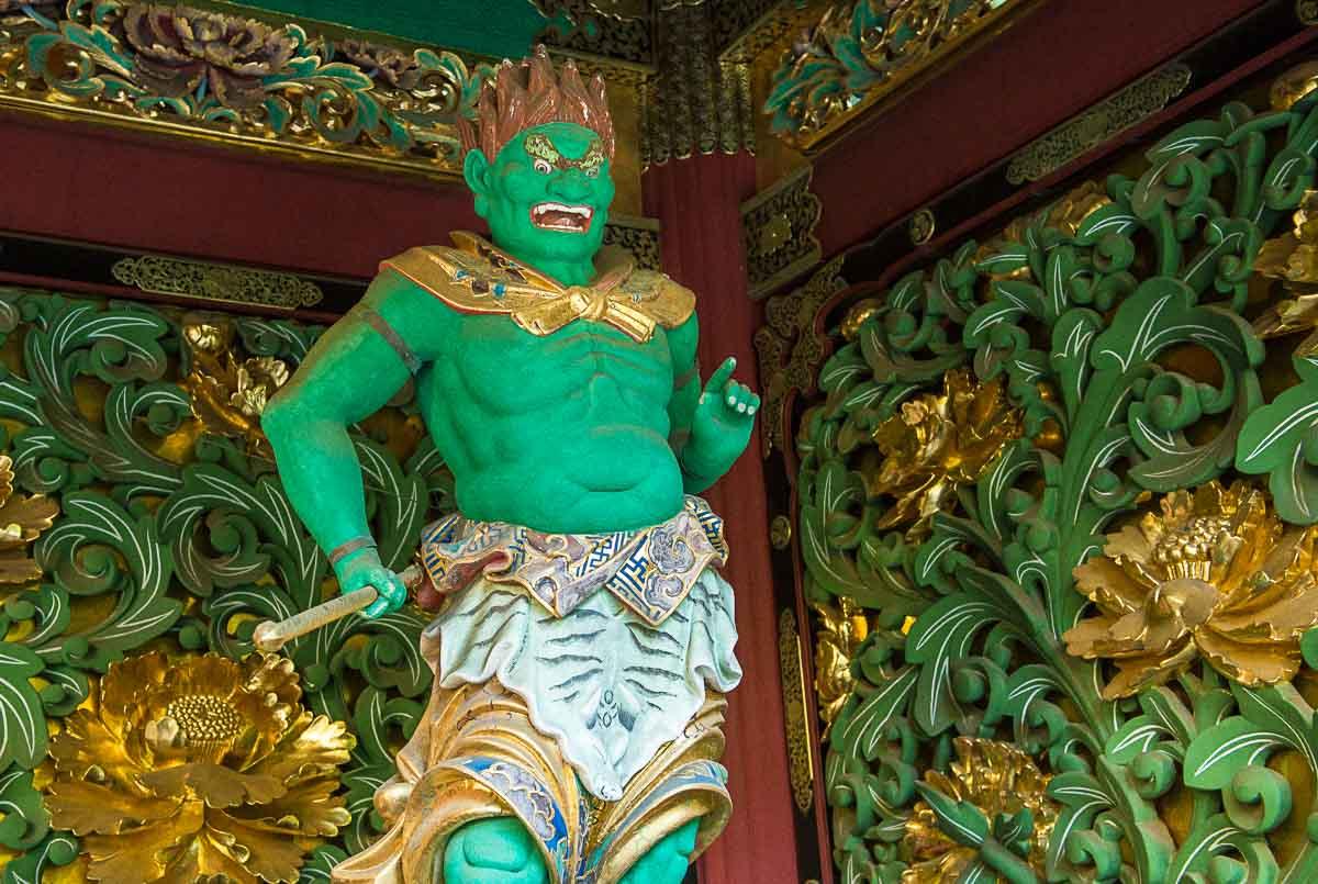 japan nikko green temple guardian