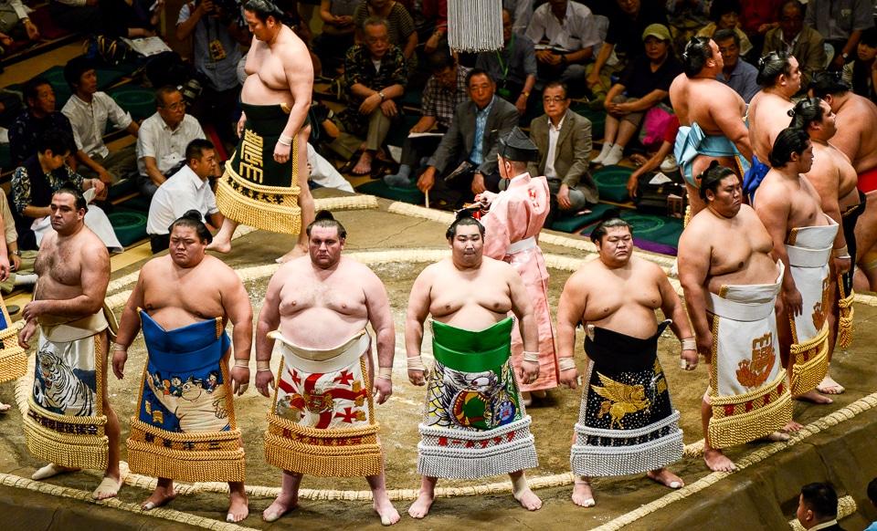 Japan sumo wrestling Tokyo
