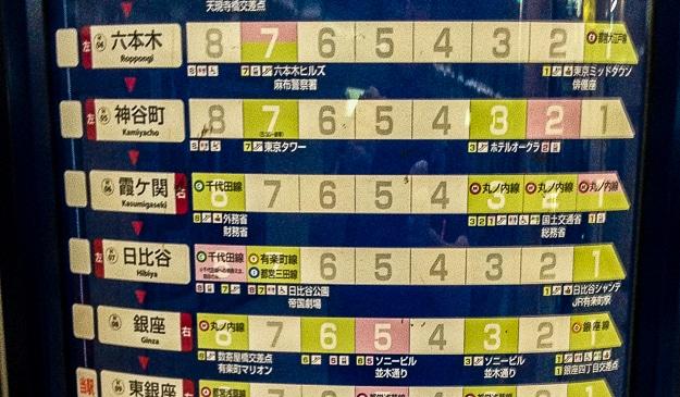 train map Tokyo metro