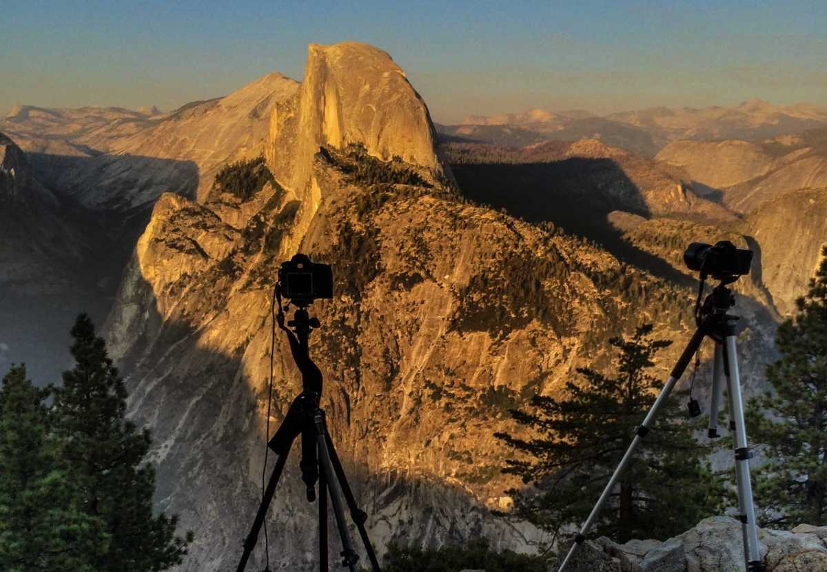 yosemite camera on tripod