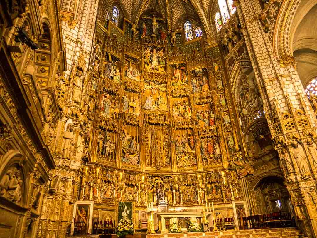 golden altar Toledo Cathedral