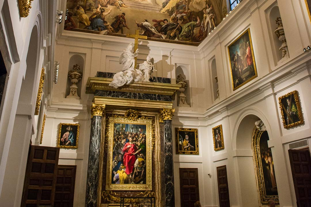toledo cathedral el greco the disrobing of christ