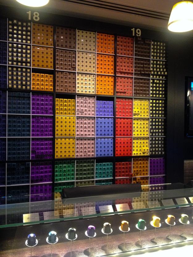 Nespresso store display, Barcelona
