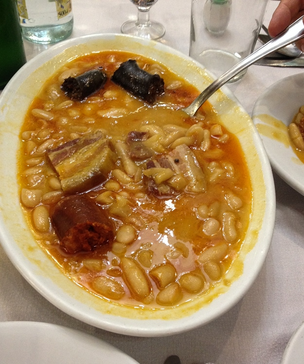 Fabada at the Asturian Restaurant, El ´Neru in Madrid