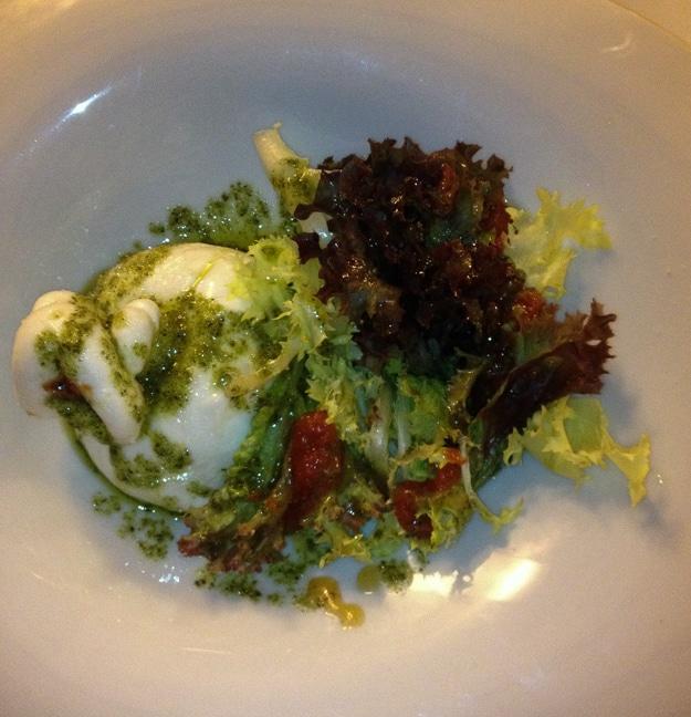 Salad at Cal Ros Restaurant in Girona