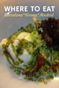 Where to Eat Barcelona Girona Madrid