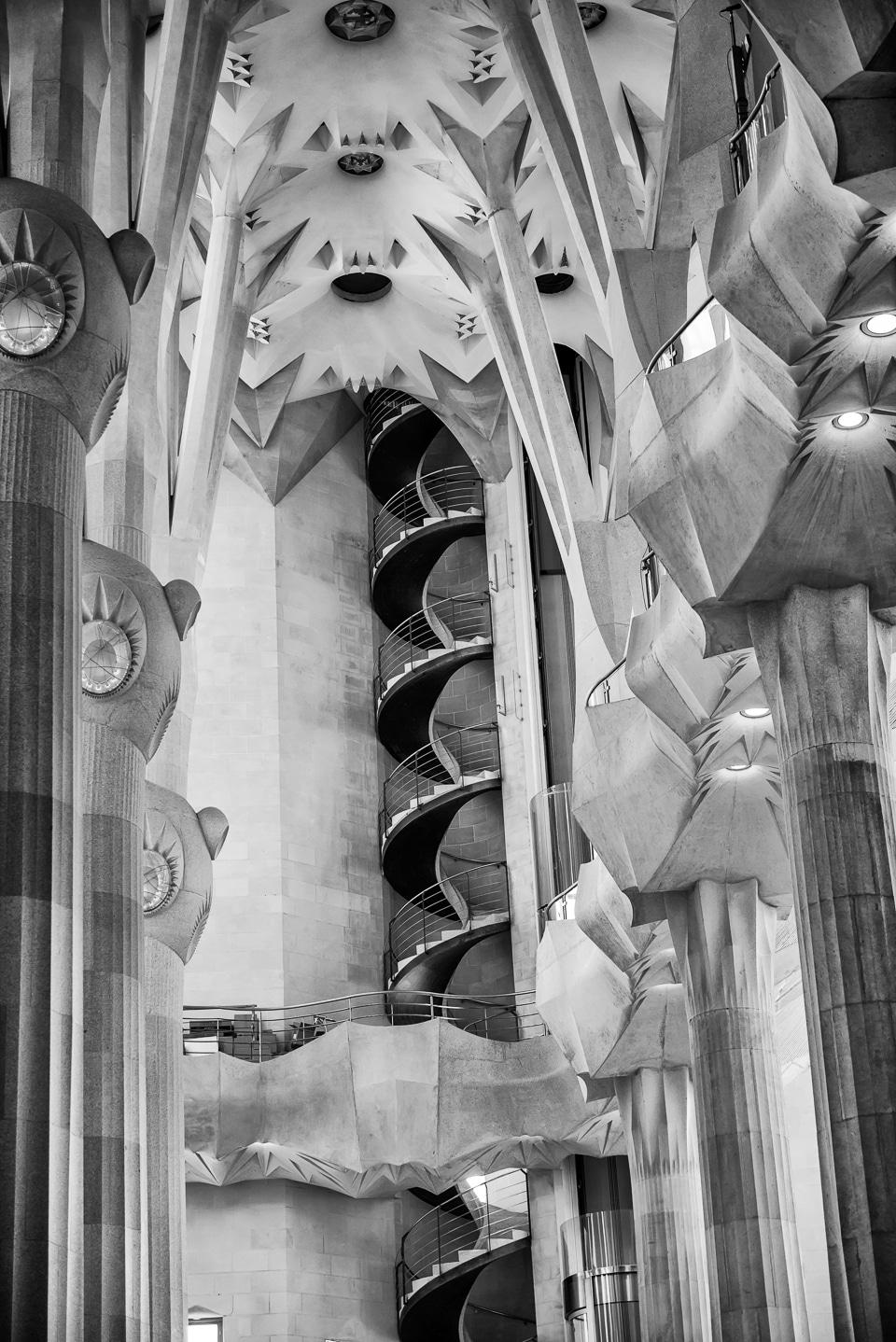 tower stairway sagrada familia Barcelona