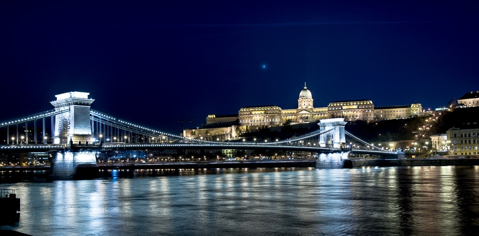 Budapest Chain Bridge Color
